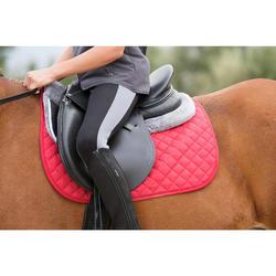 Zadeldek Schooling ruitersport paard en pony rood