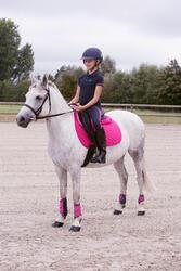 Set van 2 pees- + 2 kogelbeschermers Soft ruitersport roze/marine - pony/paard - 1127030