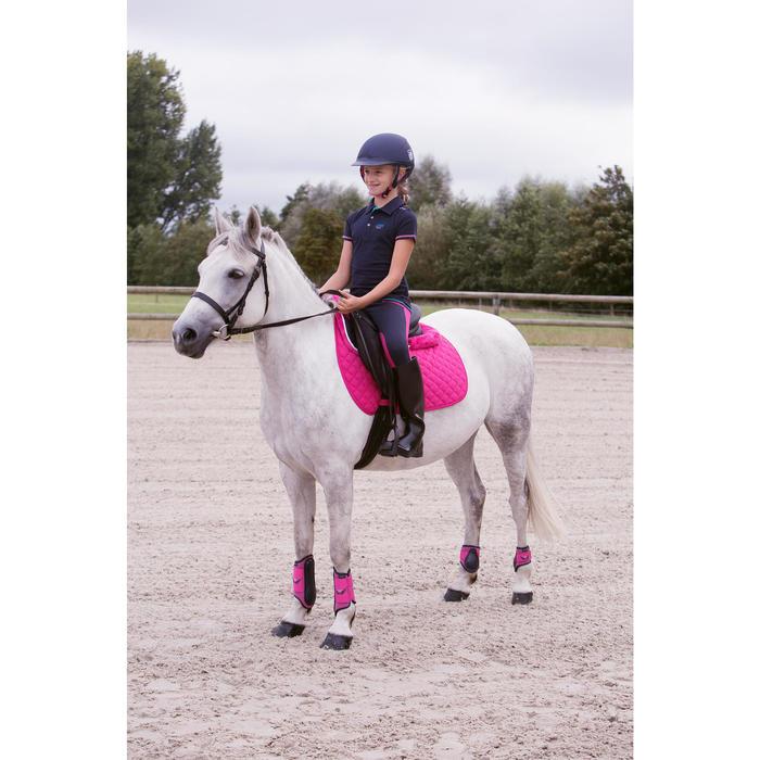 Mantilla de silla equitación poni y caballo Schooling rosa