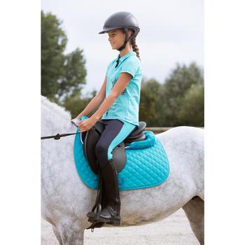 Polo manches courtes équitation enfant INDIAN PONY gris chiné - 1127031