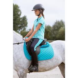 Tapis de selle équitation cheval et poney SCHOOLING turquoise