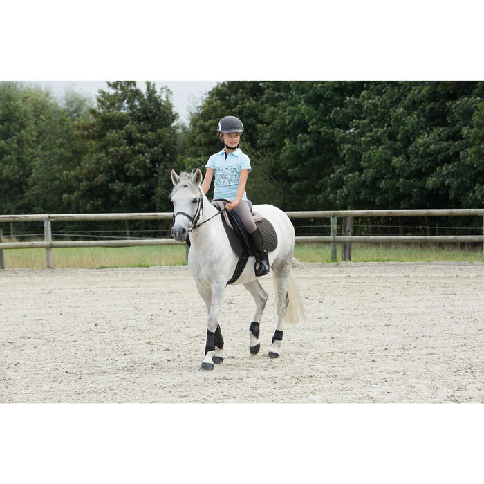 Soft Horse Riding Tendon Boots For Horse Or Pony Twin-Pack - Black
