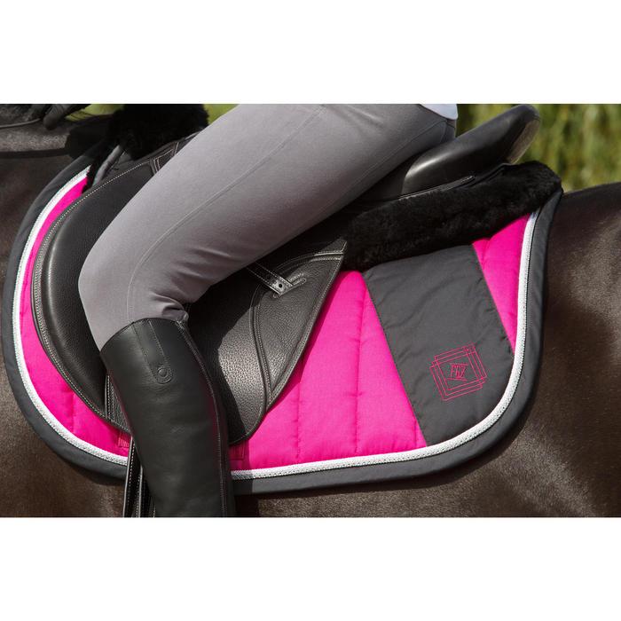 Pantalon équitation femme BR500 basanes marine - 1127055
