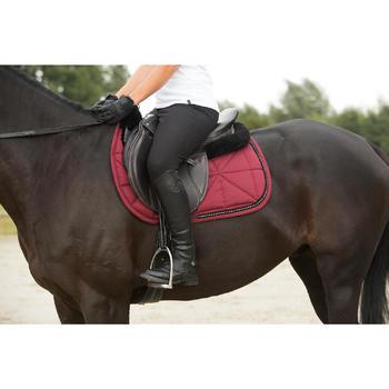 Mantilla de silla equitación poni y caballo ESTRÁS burdeos