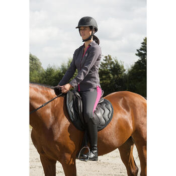 Bottes équitation adulte TRAINING 900 mollet S noir