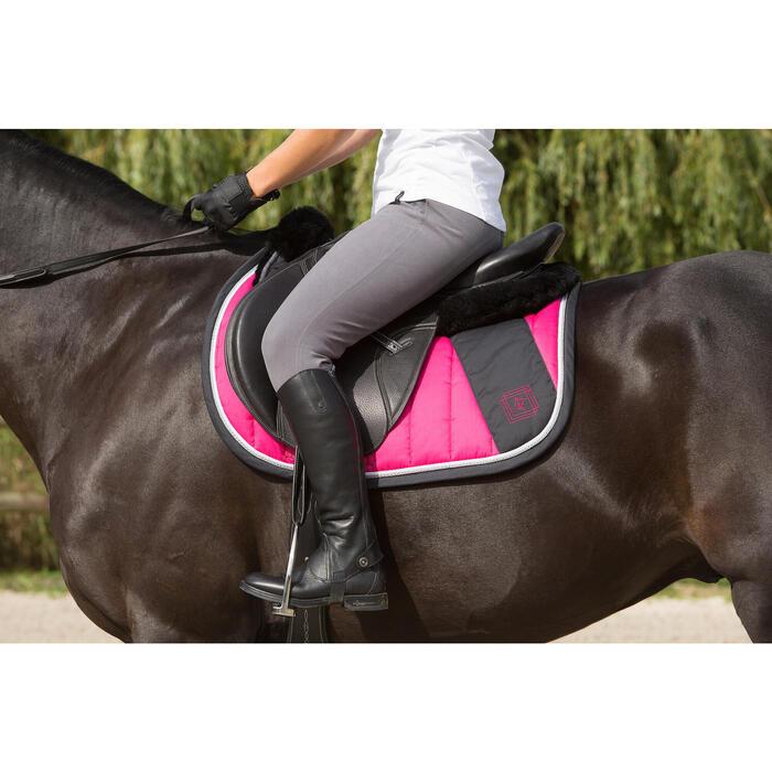 Mini-chaps équitation adulte PADDOCK 700 cuir - 1127066