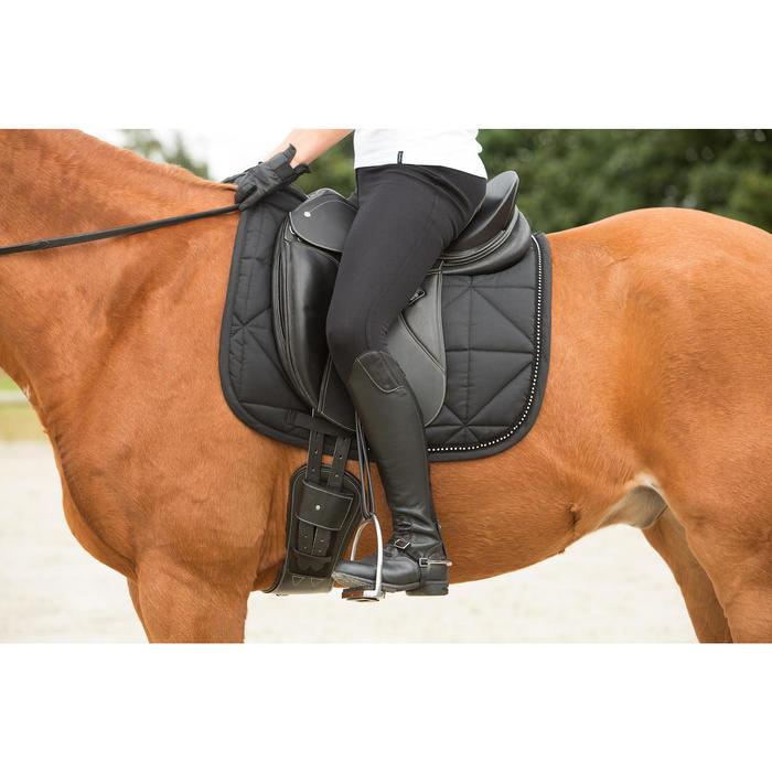 Schabracke Dressur Strass Pferd schwarz