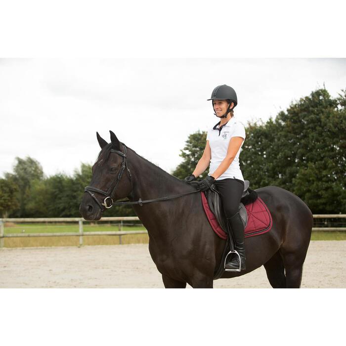 Tapis de selle équitation poney et cheval STRASS bordeaux