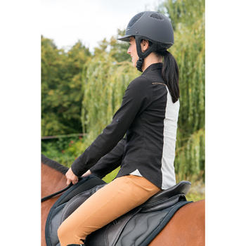 Pantalón equitación mujer BR560 GRIP badanas silicona camel