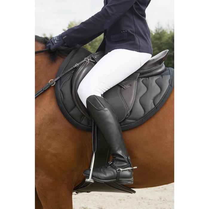"""Selle polyvalente en cuir à arçon réglable équitation cheval PADDOCK 17""""5 - 1127076"""