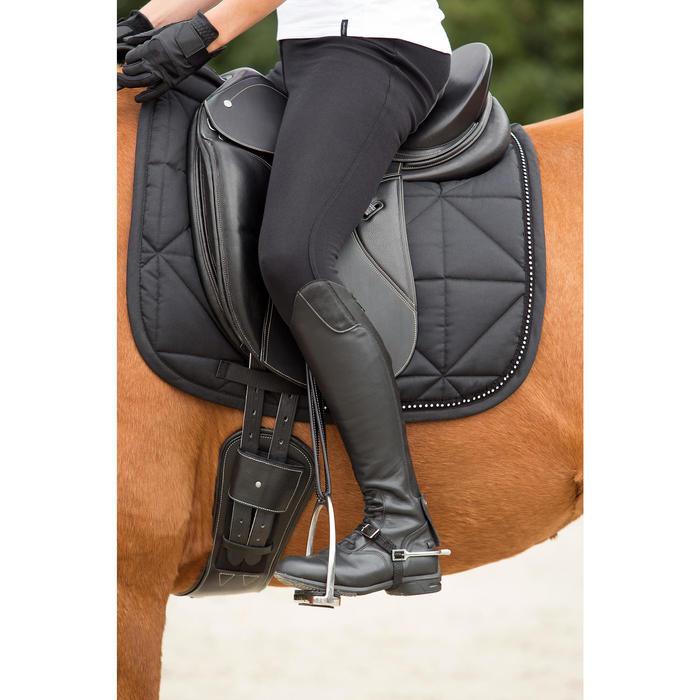 Tapis de selle équitation cheval DRESSAGE STRASS noir