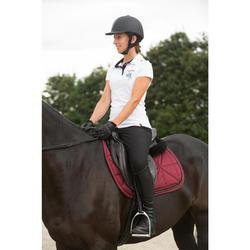 Schabracke Strass Pony/Pferd bordeaux