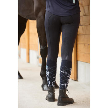 Pantalon équitation femme BR980 LIGHT full grip silicone navy