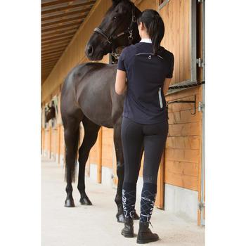 Pantalón equitación mujer BR980 LIGHT full grip silicona azul marino