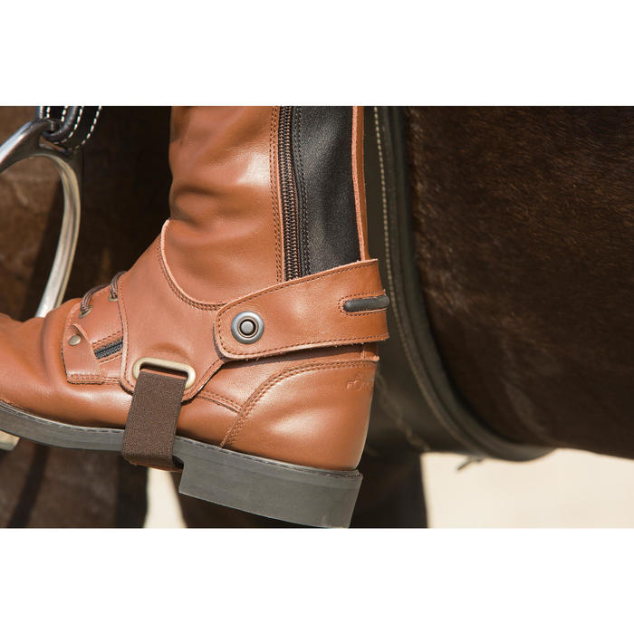 Polainas equitación adulto TRAINING 700 piel Marrón