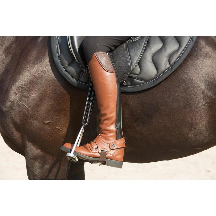 Aciones de piel equitación júnior y adulto ROMEO negro