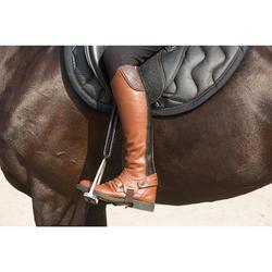 Étrivières en cuir équitation enfant et adulte ROMEO noir
