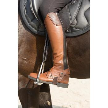 Mini-chaps équitation adulte TRAINING 700 cuir marron