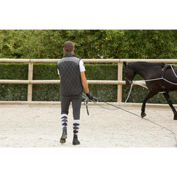 Guia de trabalho equitação SOFT cinza e preto