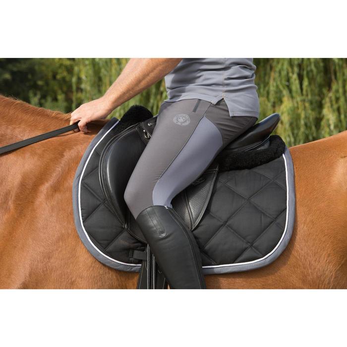 """Leren veelzijdigheidszadel met verstelbare zadelboog paard Paddock zwart 17""""5"""