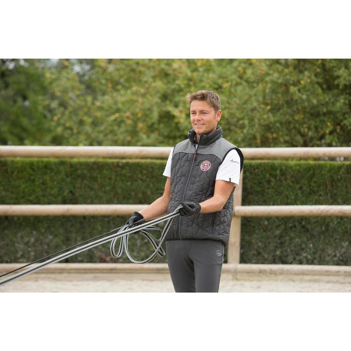 Pantalon équitation homme BR700 basanes gris et chevron - 1127133