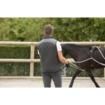 Gilet sans manche équitation homme GL700 noir et gris - 1127134