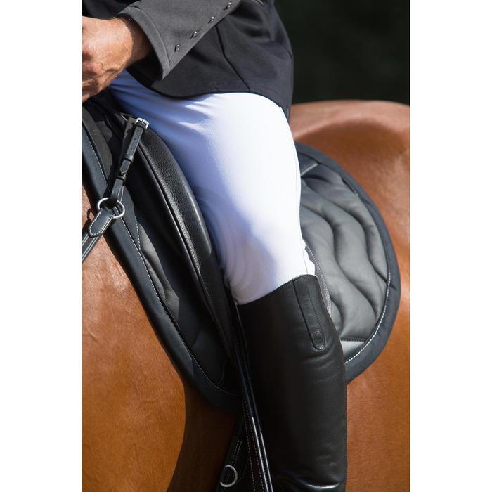 Pantalon Concours équitation homme BR560GRIP basanes silicone blanc - 1127139