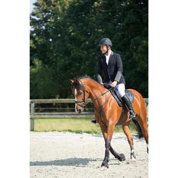 Veste de Concours équitation homme COMP100 noir et manches grises - 1127142