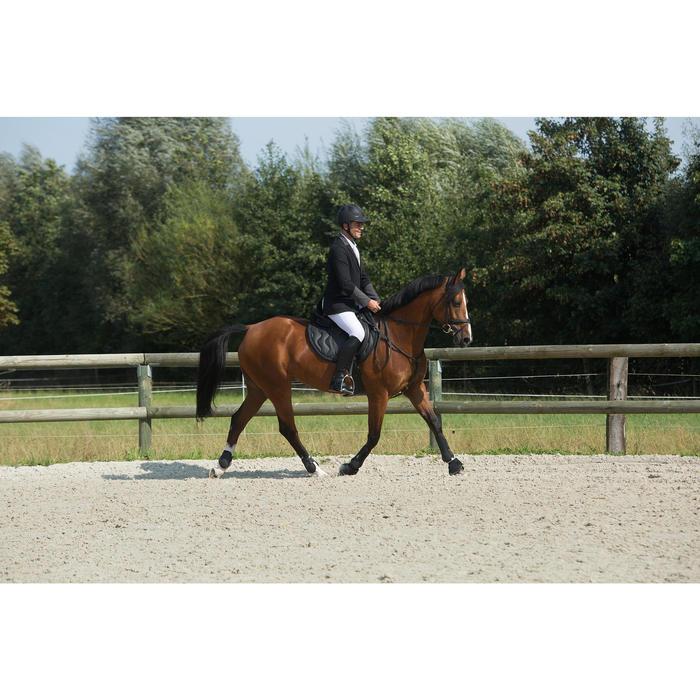 Veste de Concours équitation homme COMP100 noir et manches grises - 1127150