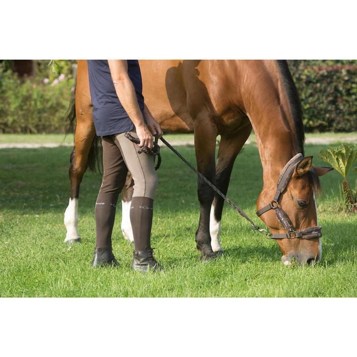 Pantalon fond de peau équitation homme BR180 fullseat marron - 1127155