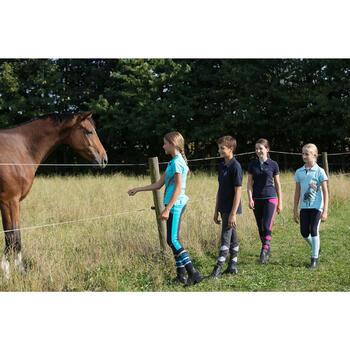 Pantalon équitation fille BR120 marine et - 1127159