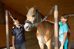 Jongenspolo Horse met korte mouwen ruitersport - 1127160