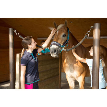 Pack cabestro + ronzal equitación caballo y poni WINNER turquesa
