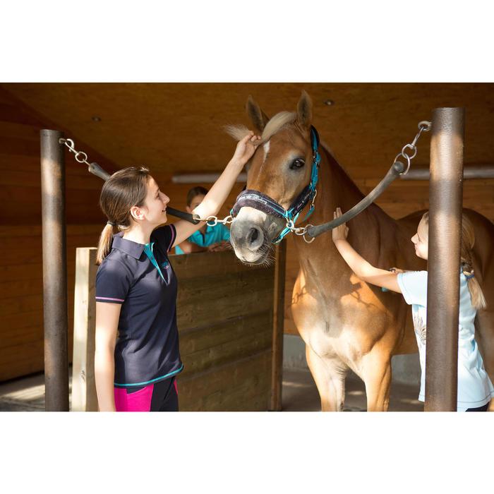 Polo manches courtes équitation enfant brodé HORSERIDING marine - 1127165