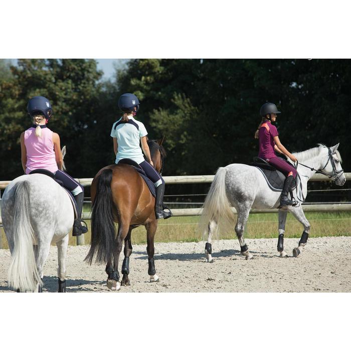 Mini-chaps équitation enfant ClASSIC 100 synthétique noir - 1127170
