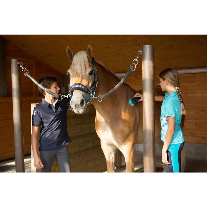 Pantalon fond de peau équitation enfant BR500 basanes marine - 1127172