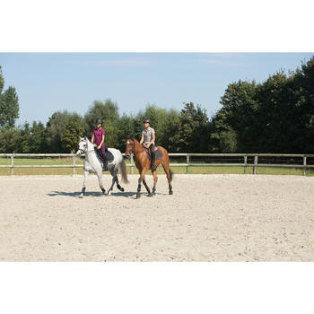Tapis de selle équitation poney et cheval SCHOOLING marron