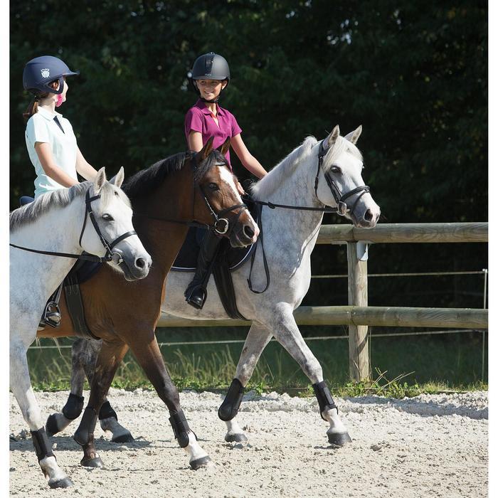 Filet + rênes équitation cheval et poney SCHOOLING cuir noir - 1127182