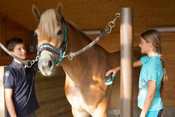 Jongenspolo Horse met korte mouwen ruitersport - 1127185