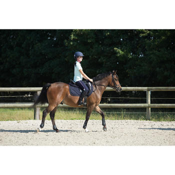 """Compleet leren veelzijdigheidszadel Schooling ruitersport paard pony zwart 16""""5"""