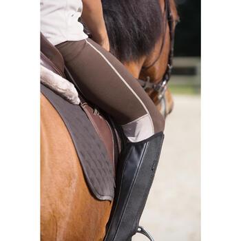 Mini-chaps équitation enfant ClASSIC 100 synthétique noir - 1127206