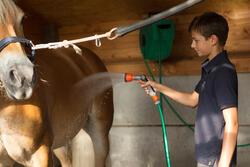Jongenspolo Horse met korte mouwen ruitersport - 1127208