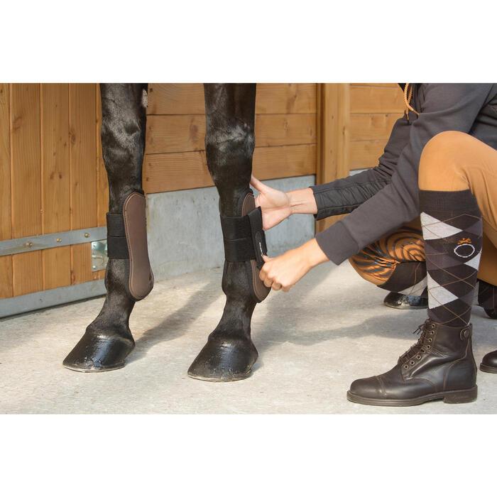 Protectores Equitación Fouganza Riding Poni Y Caballo Marrón Abiertos