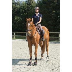 Pechopetral + gamarra equitación Fouganza ROMEO caballo y poni marrón