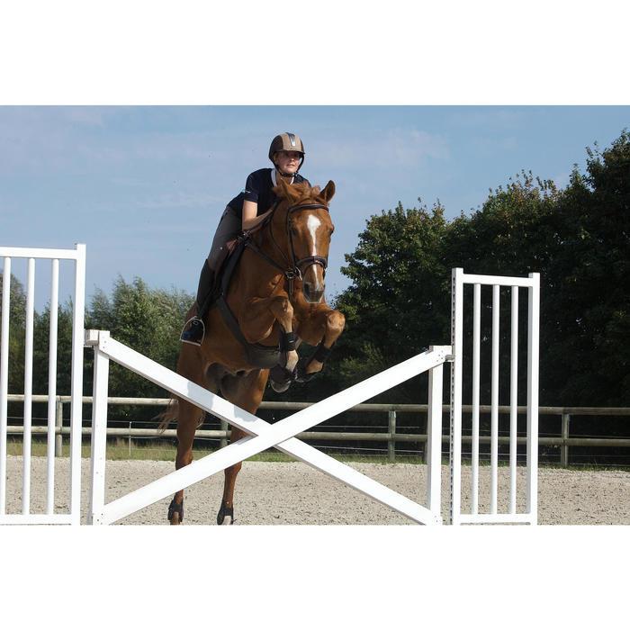 Sangle bavette cuir équitation poney et cheval ROMEO - 1127238