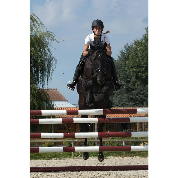 Sangle bavette en cuir équitation cheval et poney ROMEO noir