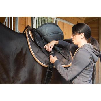 Leren singel ruitersport paard en pony Romeo zwart
