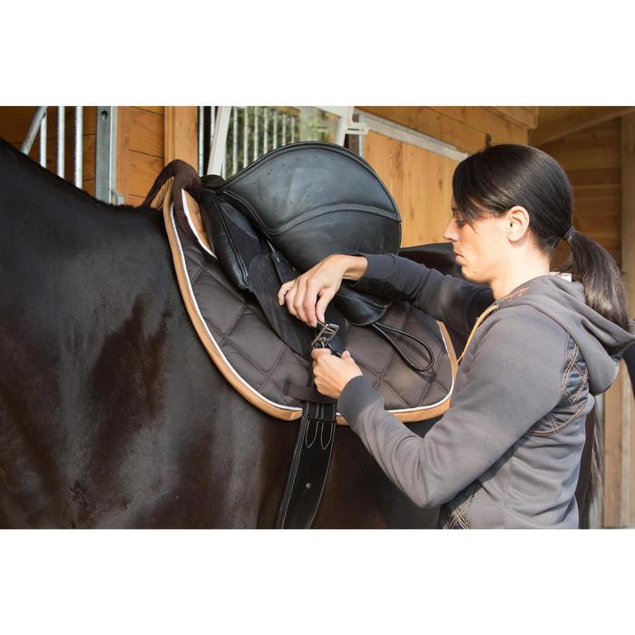 Singel ruitersport pony en paard Romeo zwart