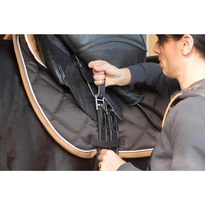 Sangle cuir équitation cheval et poney ROMEO noir