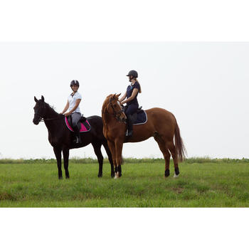 Pantalon équitation femme BR500 basanes marine - 1127277